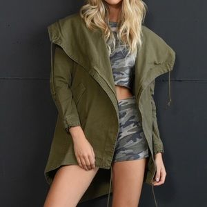 NWOT Olive green army jacket